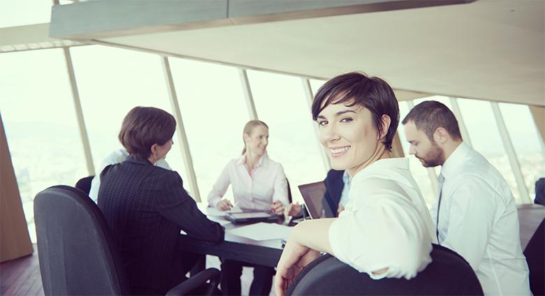 Illustrerer et vellykket møte arrangert av en selger